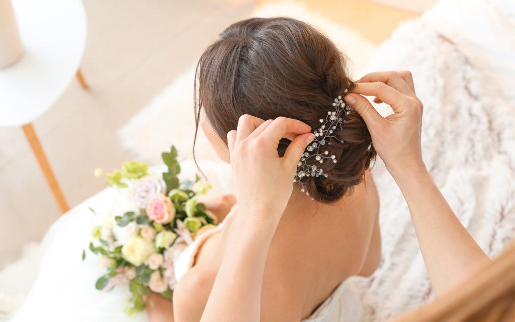 bridal hairstyle bun